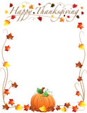 Happy Thanksgiving Border Stock Image