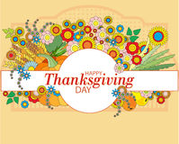 Happy Thanksgiving card with autumn leaves Royalty Free Stock Photos
