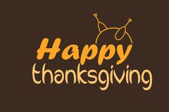 Happy Thanksgiving card or background with turkey vector illustration