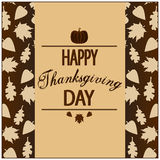 Happy Thanksgiving Card Royalty Free Stock Photos