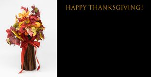 Happy Thanksgiving card with a bouquet stock images