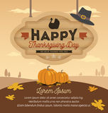 Happy Thanksgiving Card Design Royalty Free Stock Photos