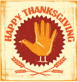 Happy Thanksgiving card design. Happy Thanksgiving turkey hand design Royalty Free Stock Image