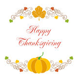 Happy thanksgiving card Stock Image