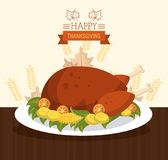 Happy thanksgiving card. Icon vector illustration graphic design Stock Photography