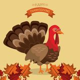 Happy thanksgiving card. Icon vector illustration graphic design Royalty Free Stock Images