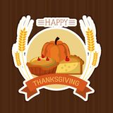 Happy thanksgiving card. Icon vector illustration graphic design Royalty Free Stock Image
