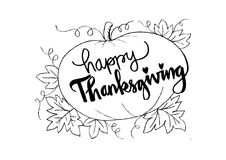 Happy Thanksgiving card. Happy Thanksgiving card with pumpkin Stock Photography