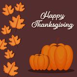 Happy thanksgiving card. Vector illustration graphic design Royalty Free Stock Image