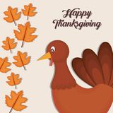 Happy thanksgiving card. Vector illustration graphic design Royalty Free Stock Photo