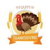Happy thanksgiving card. Icon vector illustration graphic design Stock Images