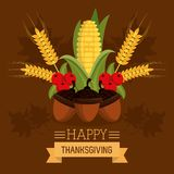 Happy thanksgiving card. Icon vector illustration graphic design Stock Image