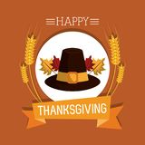 Happy thanksgiving card. Icon vector illustration graphic design Stock Photos