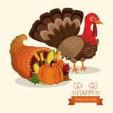 Happy thanksgiving card. Icon vector illustration graphic design Royalty Free Stock Photography