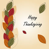 Happy Thanksgiving card Royalty Free Stock Images
