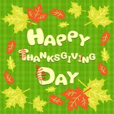 Happy Thanksgiving card with the inscription. This is file of EPS10 format Royalty Free Stock Image