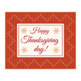 Happy Thanksgiving card Stock Photography