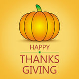 Happy thanksgiving card. Pumpkin background Stock Image