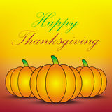 Happy thanksgiving card. Pumpkin background Stock Photography