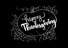 Happy Thanksgiving card. Happy Thanksgiving card with pumpkin Royalty Free Stock Photo