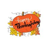 Happy Thanksgiving card. Happy Thanksgiving card with pumpkin Royalty Free Stock Images
