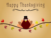 Happy thanksgiving card with turkey Royalty Free Stock Photo