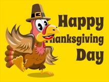 Happy thanksgiving card  turkey Stock Photo