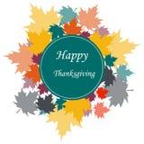 Happy thanksgiving card. Vector illustration Stock Photos