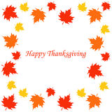 Happy thanksgiving card. Vector illustration Royalty Free Stock Photography
