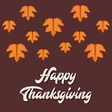 Happy thanksgiving card. Vector illustration graphic design Stock Image