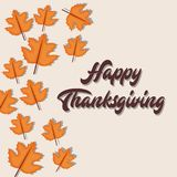 Happy thanksgiving card. Vector illustration graphic design Stock Images