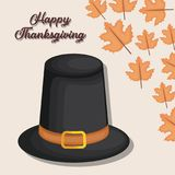 Happy thanksgiving card. Vector illustration graphic design Stock Photography