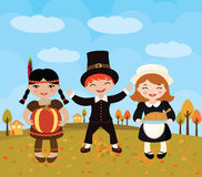 Happy Thanksgiving celebration Stock Photography