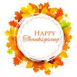 Happy Thanksgiving celebration background with maple leaf Royalty Free Stock Photo