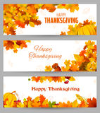 Happy Thanksgiving celebration background with maple leaf Royalty Free Stock Images