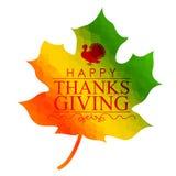 Happy Thanksgiving celebration background with maple leaf Stock Photo