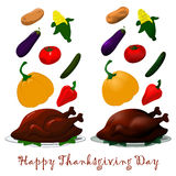Happy Thanksgiving turkey Royalty Free Stock Image