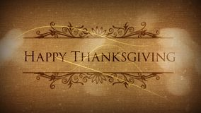 Happy Thanksgiving Classic Particle Reveal stock footage