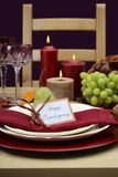Happy Thanksgiving classic table setting. Stock Images