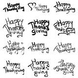 Happy thanksgiving collection Stock Image