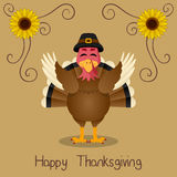 Happy Thanksgiving - Cute Turkey Smiling Royalty Free Stock Photography