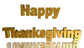 Happy thanksgiving,3D illustration. Text Greeting Card Happy Thanksgiving Stock Images