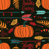 Happy ThanksGiving dark background Royalty Free Stock Photography