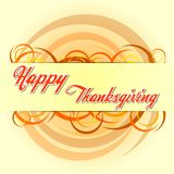 Happy thanksgiving day with autumn colors circles Stock Photos