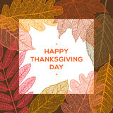 Happy thanksgiving day, autumn holiday background royalty free illustration