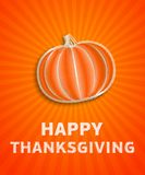 Happy thanksgiving day - autumn illustration with striped pumpki Royalty Free Stock Images