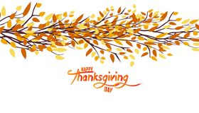 Happy Thanksgiving Day. Autumn tree. Fall Leaves Background Stock Photography