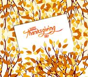 Happy Thanksgiving Day. Autumn tree. Fall Leaves Background Stock Photos
