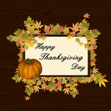 Happy thanksgiving day background Royalty Free Stock Photo