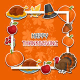 Happy Thanksgiving Day background design with Royalty Free Stock Image